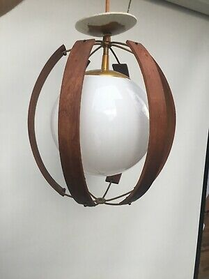 Antique Vintage Milk Glass Art Deco Ceiling Light Fixture Globe Imperialists