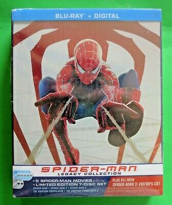 Spider-Man Legacy Collection Steelbook (Blu-ray+Digital) Limited Ed. set - NEW