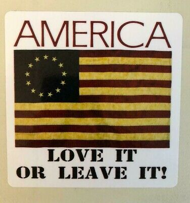 Nike Betsy Ross Flag America Love It Or Leave It Decal Sticker