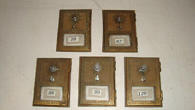"Lot of 5. Sherman Manson 1962 Vintage Post Office Box PO Box Door 3 5/8"" by 5"""
