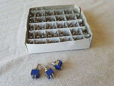 Box of 100 DPDT on-on switches BRAND NEW!
