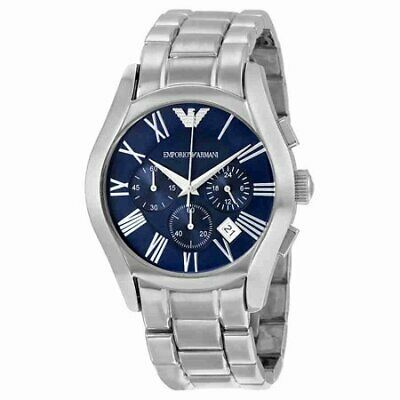 Emporio Armani Classic Men's Watch Silver Stainless Steel Blue Dial AR1635