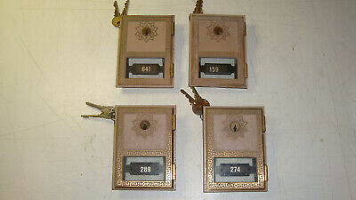 "Lot of 4. Vintage Post Office Box PO Box Door 3 5/8"" by 5"" with Glass"