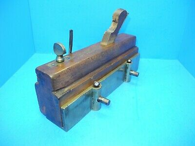 Thomas Wood NYC moving filletster molding moulding plane massive brass fence 3*