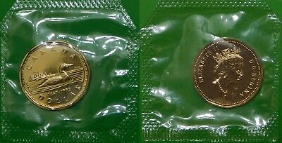 1992 Canada Loonie Sealed in Cellophane