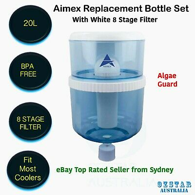 Aimex Water Cooler 7 8 Stage Water Filter Algae Shield Replacement Bottle 20L AU