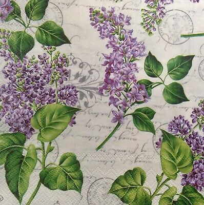 3 Paper Napkins for Decoupage/Parties/Weddings - Lilacs