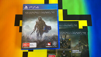 Sony Playstation 4 Ps4 Middle Earth Shadow  Of Mordor  Video Game Free Postage