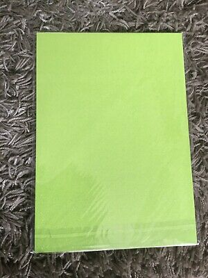 10 SHEETS LIME GREEN A4 STARDUST SPARKLING GLITTER CARD 285gsm THICK CRAFT