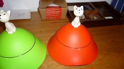 Alessi Mio Cat Bowl - Covered Cat Bowl lime green