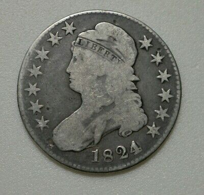 1824 O-103 Capped Bust Half Dollar 50C O-103 Over Various Dates