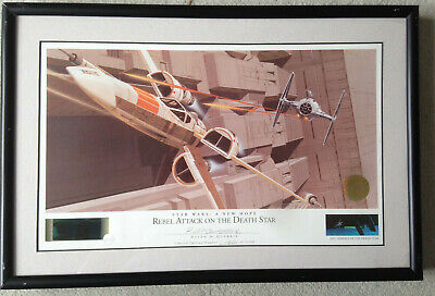 RALPH MCQUARRIE Limited Edition Signed REBEL ATTACK ON THE DEATH STAR Star Wars