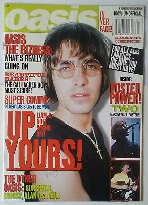 Oasis Poster Magazine. Liam Noel Gallager. Definitely Maybe. Wonderwall