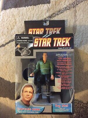 Diamond Select Star Trek Captain Kirk with Command Chair Amazon Edition
