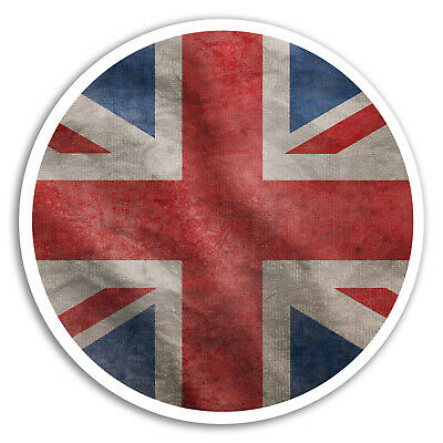 2 x Oval Union Jack Vinyl Sticker Decal iPad Laptop Travel England Flag #4346