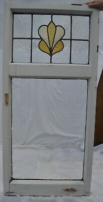 British leaded light stained glass window sash. R675b. WORLDWIDE DELIVERY!!!
