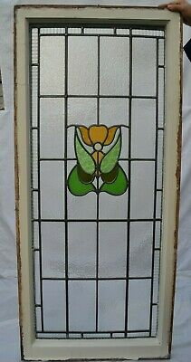 British leaded light stained glass window sash. R623a