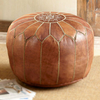 Ottoman Leather Footstool Seat Moroccan Pouf HANDMADE LEATHER POUF