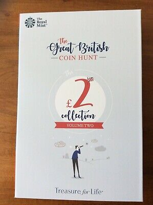 GREAT BRITISH COIN HUNT £2 Album Folder VOLUME 2 with all 8 coins
