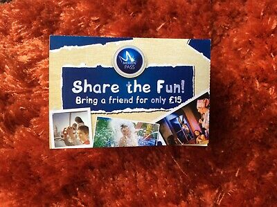 * Merlin Annual Pass Premium Share The Fun Vouchers £15 Entry  *