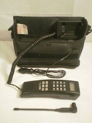 Vintage Cellular One Portable Bag Phone With Car Charger