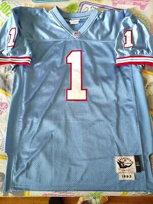 33575e25 L Mitchell Ness Warren Moon Houston Oilers Jersey tennessee texans NFL  Authentic