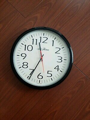 Vintage Large Seth Thomas  12'' USA office cafeteria clock, Works ,ship securely