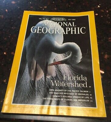 National Geographic- July 1990- Vol 178, No.1 Florida Watershed