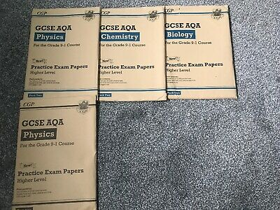 Cgp Gcse Aqa Biology Chemistry Physics Practice Exam Papers Higher Rrp £28