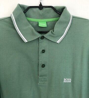 Mens Hugo Boss Green Label Polo Shirt Green Size XL Excellent Condition