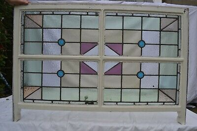 British leaded light stained glass window sash. R820f. WORLDWIDE DELIVERY