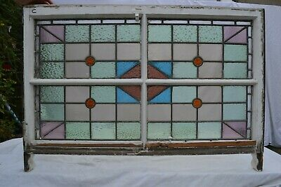 British leaded light stained glass window sash. R820c. WORLDWIDE DELIVERY