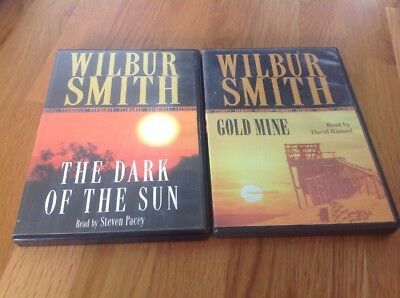 Two Wilbur Smith CD Audiobooks - Gold Mine & The Dark Of The Sun