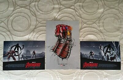 AVENGERS ENDGAME We Love You 3000 AMC EXCLUSIVE POSTERS Set 13 x 19 & 11 x 15.5