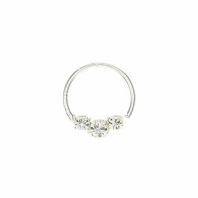 800655a7585e2 CLAIRE'S GIRL'S CRYSTAL Embellished Cartilage Hoop Earring Silver
