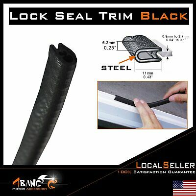 Rubber Seal Edge Trim Guard Strip Waterproof Decorative Anticollision Black 20ft