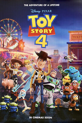 TOY STORY 4 MOVIE POSTER 2 Sided ORIGINAL Advance Ver C 27x40 TOM HANKS DISNEY
