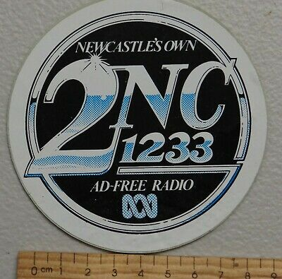 1 x NEWCASTLES OWN 2NC 1233 AD FREE RADIO COLLECTABLE STICKER