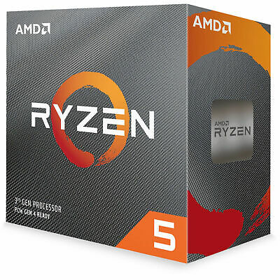AMD AM4 Ryzen 5 3600X CPU 6 Core 12 Thread 32MB Cache 3.8 GHz Desktop Processor