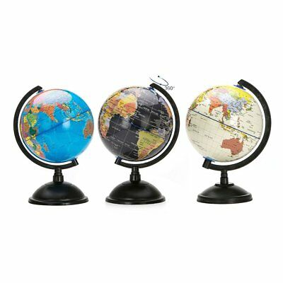 20cm Blue Ocean World Globe Map With Swivel Stand Geography Educational W5