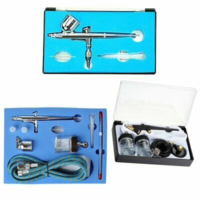 Professional 0.20.30.5mm Dual Action Airbrush Spray Paint Gun Kit Complete rW