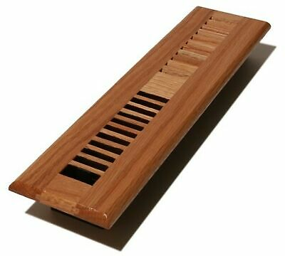 Decor Grates WL214-N Wood Louver Floor Register, Natural Oak, 2-Inch by 14-Inch