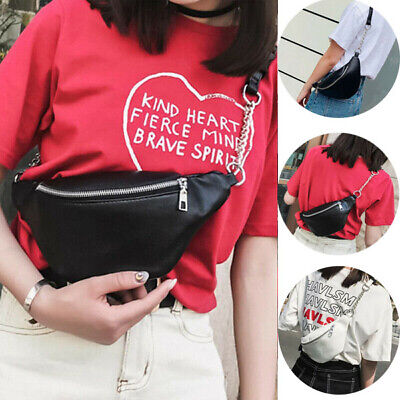 Women Waist Fanny Pack Belt Bag Pouch Travel Hip Bum Bag Chain Waist Small Purse