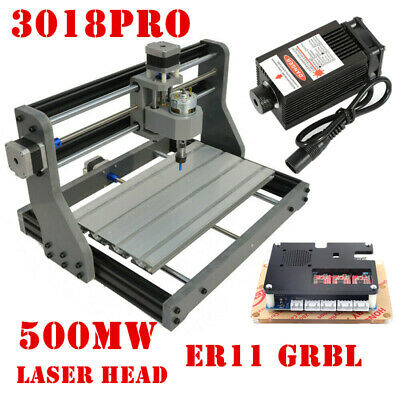 Upgraded CNC3018PRO DIY Router 2IN1 GRBL PCB Milling Engraving+ 500mW Laser Head