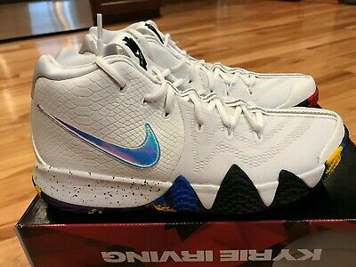 promo code f3a00 279c1 NIKE KYRIE 4 NCAA March Madness White Multicolor 943806 104 Size 9.5  NOBOXTOP