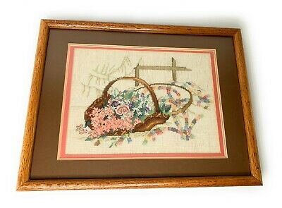 Paula Vaughan Completed Wedding Ring Cross Stitch (Leisure Arts 493) Framed