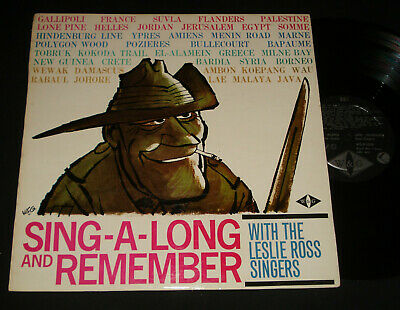LESLIE ROSS SINGERS – SING-A-LONG AND REMEMBER W&G 1962 LP Gallipoli War Songs