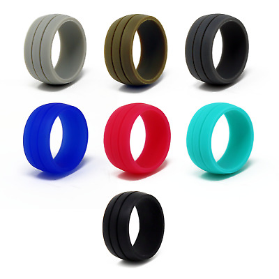 f047b26d3bc46 5X SILICONE WEDDING Engagement Ring Men Women Rubber Band Outdoor ...
