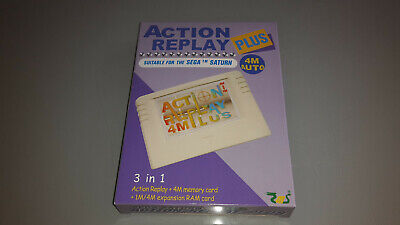 EMS Action Replay with 4M Memory Card for Sega Saturn, Boxed with Instructions