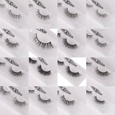 3D Mink Soft Long Natural Thick Makeup Eye Lashes False Eyelashes Fake Lashes